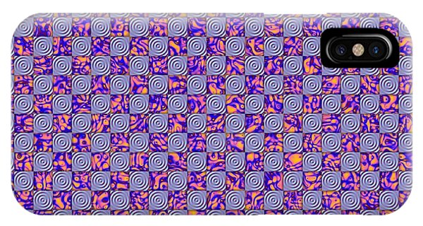 Flares, Squares And Ripples 4 IPhone Case