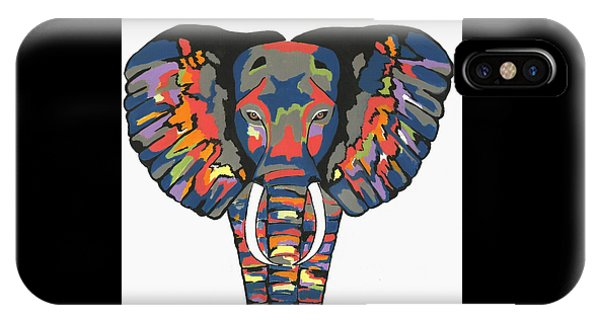 Flashy Elephant - Contemporary Animal Painting IPhone Case