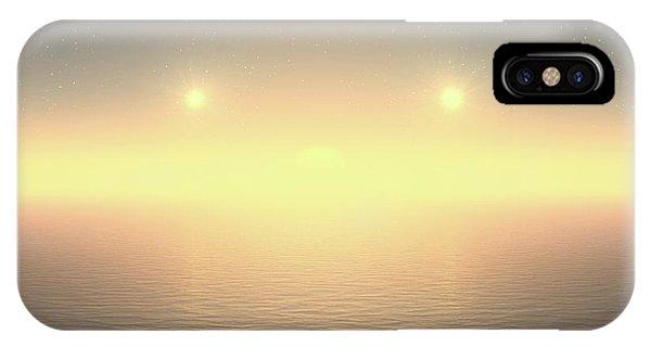 IPhone Case featuring the digital art Flat Lights by Robert Thalmeier