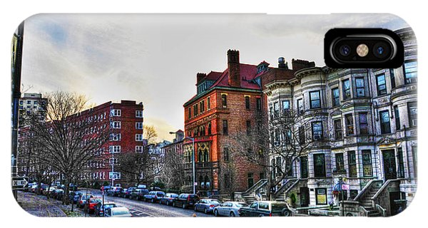 Brownstone iPhone Case - Flatbush Ave In Brooklyn by Randy Aveille