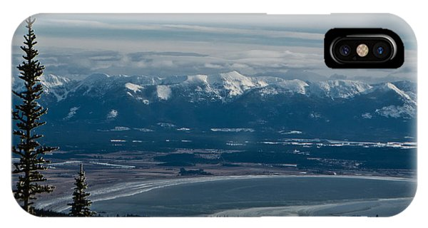Flathead Valley In The Winter IPhone Case