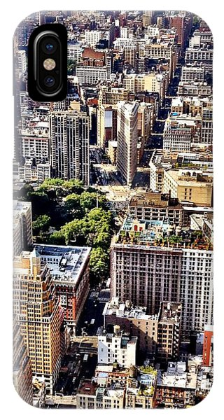 City iPhone Case - Flatiron Building From Above - New York City by Vivienne Gucwa