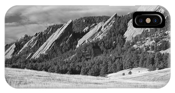 Flatiron Morning Light Boulder Colorado Bw IPhone Case