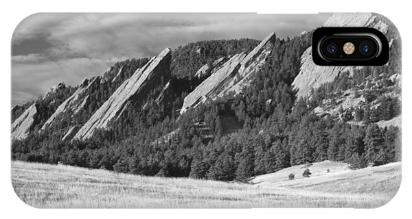 Flatiron Morning Light Boulder Colorado Bw IPhone Case