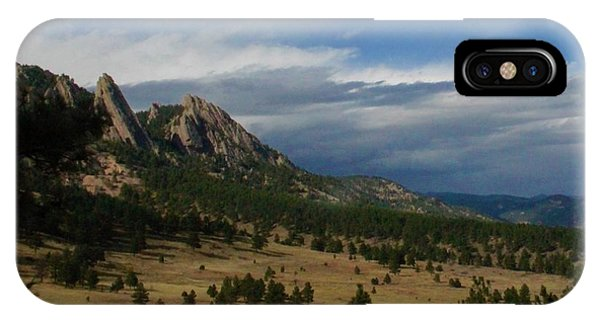 Flatirons, Boulder, Colorado IPhone Case