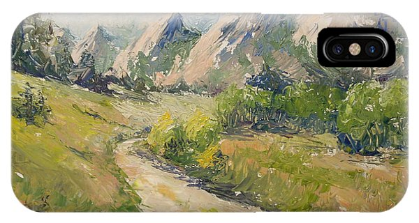 Flatirons In The Rockies IPhone Case