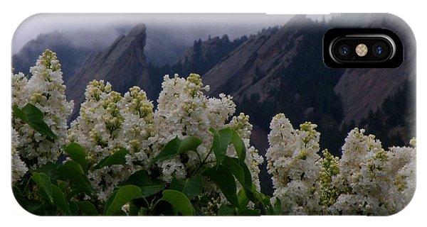 Flatirons White Lilacs IPhone Case