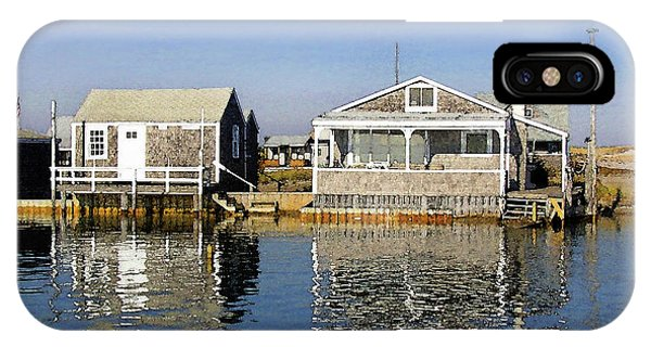 Fletchers Camp And The Little House Sandy Neck IPhone Case