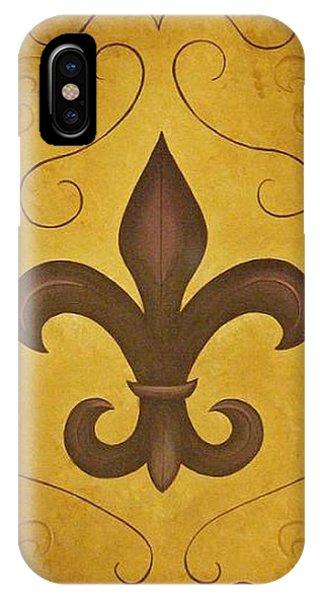 Fleur De Lis II IPhone Case