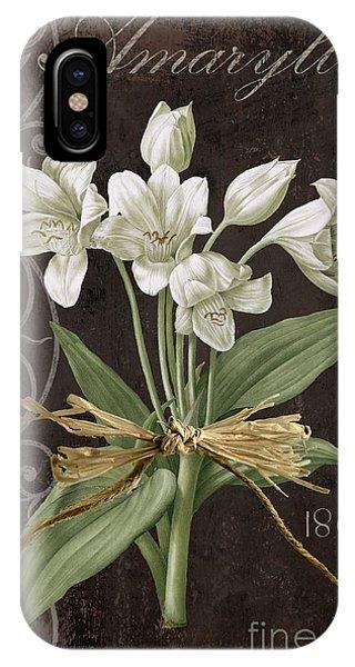 Amaryllis iPhone Case - Fleurs De Paris by Mindy Sommers