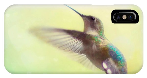 Beautiful Hummingbird iPhone Case - Flight Of Fancy - Square Version by Amy Tyler