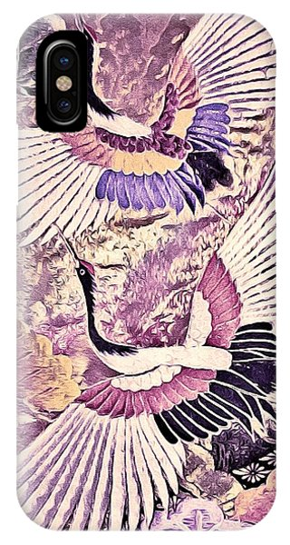 Flight Of Lovers - Kimono Series IPhone Case