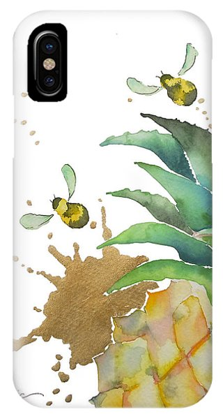 Bee iPhone X Case - Flight Of The Bumblebee No19 by Roleen Senic