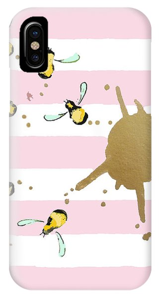 Bee iPhone X Case - Flight Of The Bumblebeee No 21 by Roleen Senic