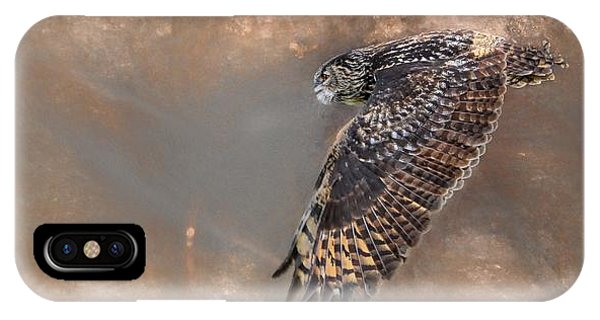 Flight Of The Eagle Owl IPhone Case