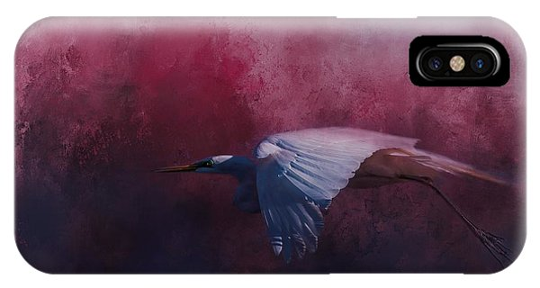 Egrets iPhone Case - Flight Of The Egret by Marvin Spates