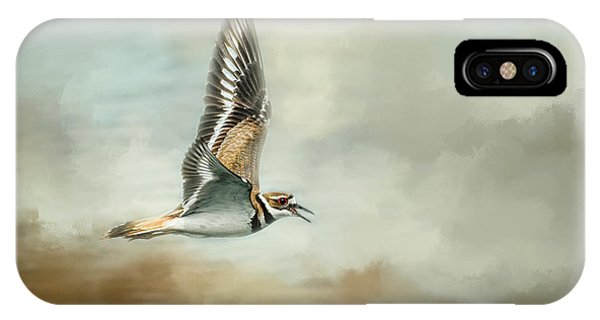 Killdeer iPhone Case - Flight Of The Killdeer by Jai Johnson