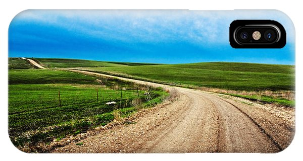 Flint Hills Spring Gravel IPhone Case