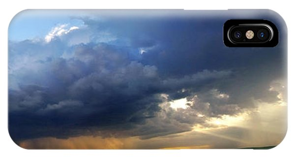 Flint Hills Storm Panorama 2 IPhone Case