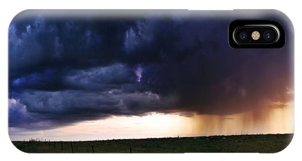 Flint Hills Storm Panorama  IPhone Case