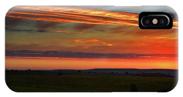 Flint Hills Sunrise IPhone Case