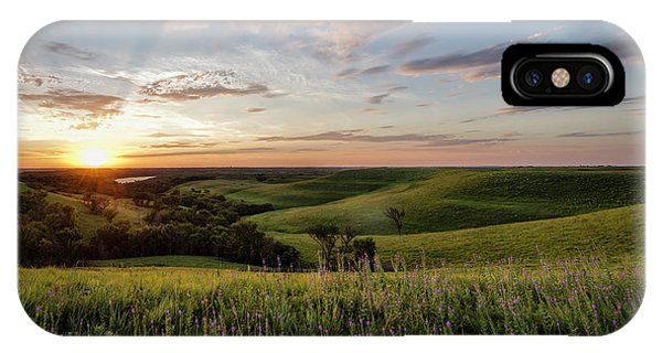Flint Hills Sunset Phone Case by Scott Bean