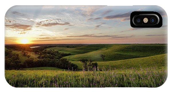 Flint Hills Sunset IPhone Case