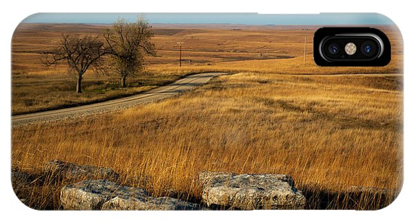 Flint Hills Two Trees IPhone Case