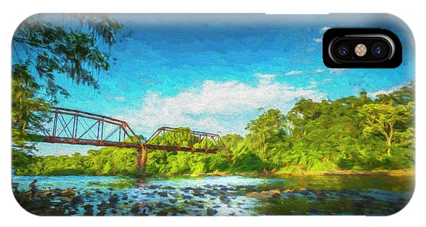 Cypress iPhone Case - Flint River by Marvin Spates