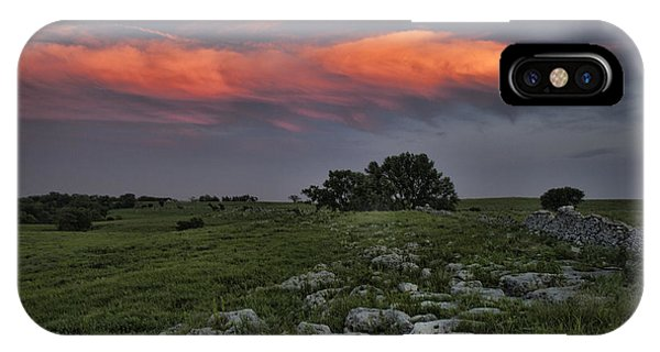 Flinthills Sunset IPhone Case