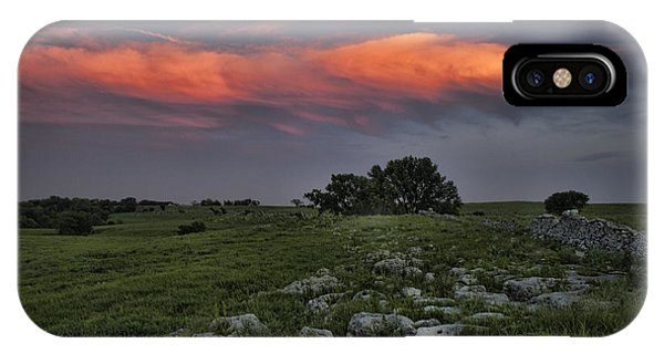 Flinthills Sunset IPhone Case