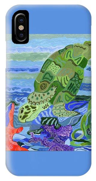 Flip The Sea Turtle IPhone Case