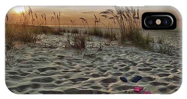 Flipflops On The Beach IPhone Case