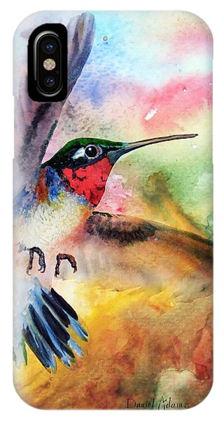 Da198 Flit The Hummingbird By Daniel Adams IPhone Case
