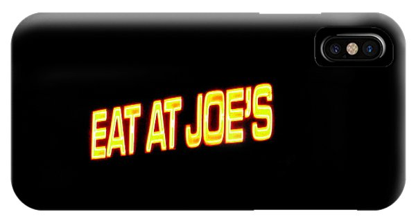 Floating Neon - Eat At Joes IPhone Case