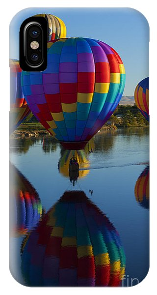 Hot Air Balloons iPhone Case - Floating Reflections by Mike Dawson