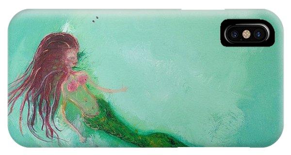 iPhone Case - Floaty Mermaid by Roxy Rich
