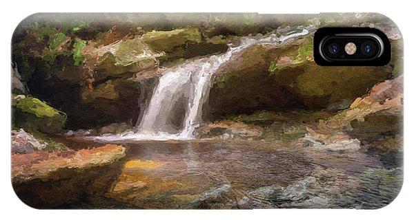 Flooded Waterfall In The Forest IPhone Case