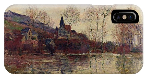 Flooded iPhone Case - Floods At Giverny by Claude Monet