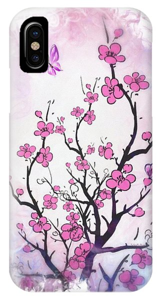 Floral Abstract Painting  IPhone Case