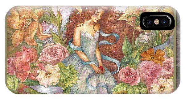 Floral Angel Glamorous Botanical IPhone Case