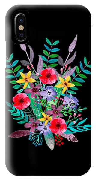 Flowers iPhone X / XS Case - Just Flora by Amanda Lakey
