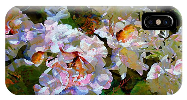 Illusion iPhone Case - Floral Fiction 2 by Hanne Lore Koehler