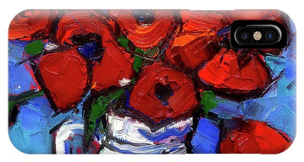 Floral Miniature - Abstract 0515 - Red Poppies IPhone Case