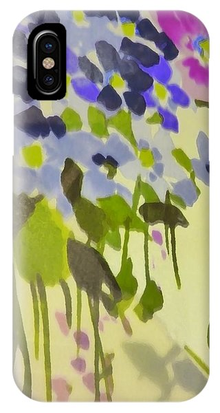 Floral Vines Phone Case by Florene Welebny