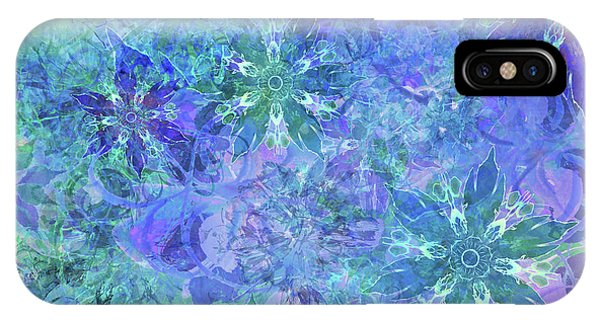 Floral Watercolor Blue IPhone Case
