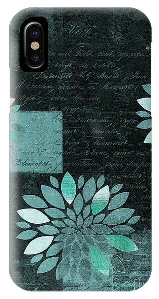 Aqua iPhone Case - Floralis - 8181cd by Variance Collections