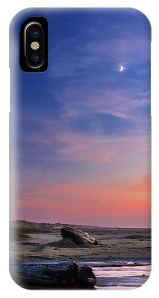 Oregon Sand Dunes iPhone Case - Florence Beach Twilight Moon by James Eddy