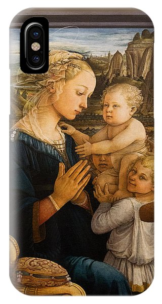 Florence - Madonna And Child With Angels- Filippo Lippi IPhone Case