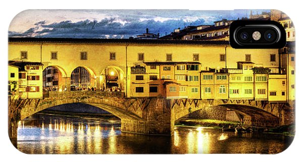 Florence - Ponte Vecchio Sunset From The Oltrarno - Vintage Version IPhone Case